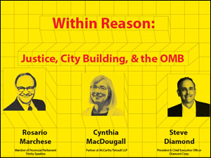 within reason: justice, city building and the OMB