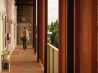 The ecoFLATS building in Portland, Oregon offers affordable rental apartments with numerous sustainable features. Ben Gray