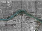Urban upgrades in progress along downtown Calgary's riverfront.