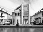 The 1990 McIlveen Floating Home on British Columbia's Lower Mainland includes a spherical bathroom suspended above the kitchen. Christina Craiu
