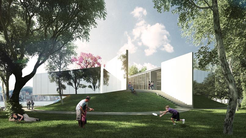 proposed west kowloon cultural design district arts pavilion