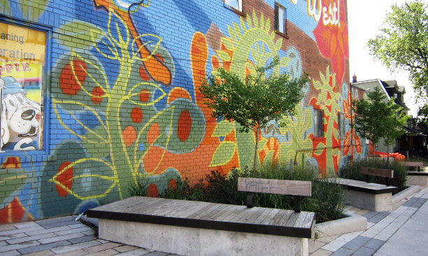 dundas street west parkette by PMA landscape architects ltd.