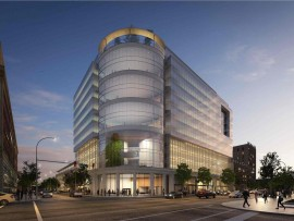 diamond schmitt architects' $80-million complex for uniland development company in buffalo, new york.