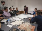 Structural engineers from AKT II lead a workshop with Architectural Association students in London, UK.  AKT II