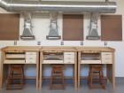 Custom work-stations accommodate jewelry-making, carving, soldering and other handwork.