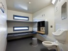 A view of a standard inmate room.