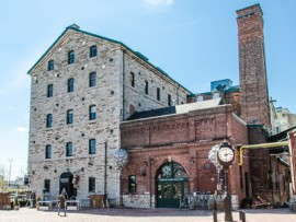 the distillery district, part of the whiskey, wharf & windmill walking tour