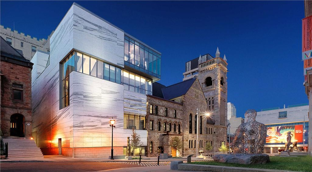 the montreal museum of fine arts - claire & marc bourgie pavilion of quebec and canadian art in montreal, quebec by provencher roy + associs won the top prize in the urban architecture category.
