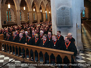 RAIC college of fellows convocation ceremony in st. john's newfoundland in 2012