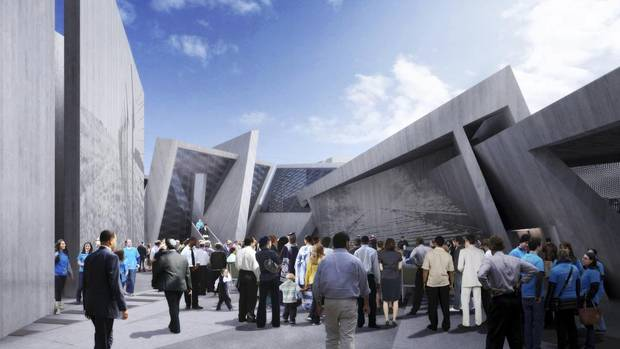 rendering of the winning scheme for the national holocaust monument in ottawa. image from lord cultural resources.
