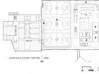 Second Floor  1 fitness area 2 track 3 studio 4 spa 5 gym 6 mezzanine