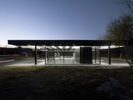 The poetic integrity of the Mies van der Rohe Gas Station has been retained in its conversion to a youth and seniors' activity centre.