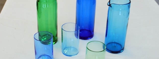 glassware pieces designed and made by tsunami glassworks for creative genius at harbourfront centre