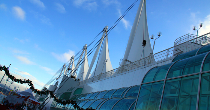 sails at canada place designed by the zeidler roberts partnership