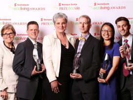 winners of the 2014 scotiabank ecoliving awards