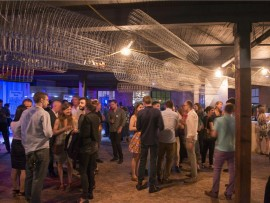 crowd at RAW MATERIAL.  photo by bob gundu.