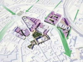 the proposed north hub of the belfast plan