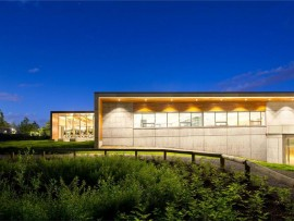 exterior of south surrey recreation & arts centre. ema peter photography.