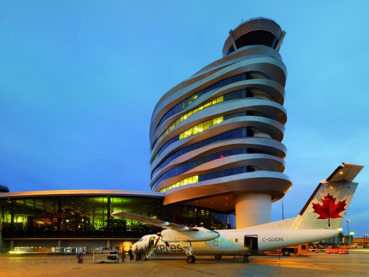 edmonton international airport (EIA) office and control tower. photo by tom arban.