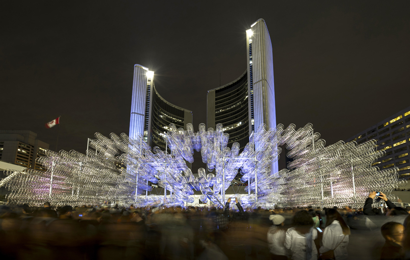 ai wei wei installation at nathan phillips square during nuit blanche 2013