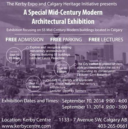 mid-century modern architecture exhibition in Calgary