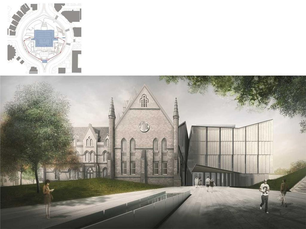 """heritage reframed"" was recognized with an acknowledgement prize. the complete daniels faculty of architecture, landscape and design restores the architecture, landscape and urban design within the round of spadina crescent on the university of toronto campus."
