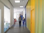 A wide corridor provides ample space for pacing.