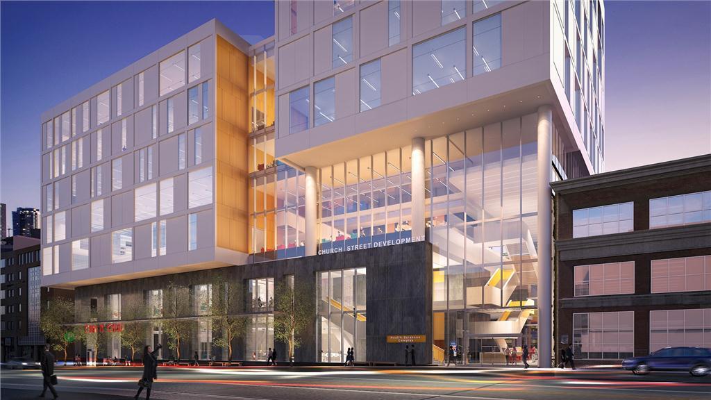 rendering of perkins+will's church street development for ryerson university