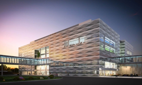 rendering of the engineering 7 building by perkins+will