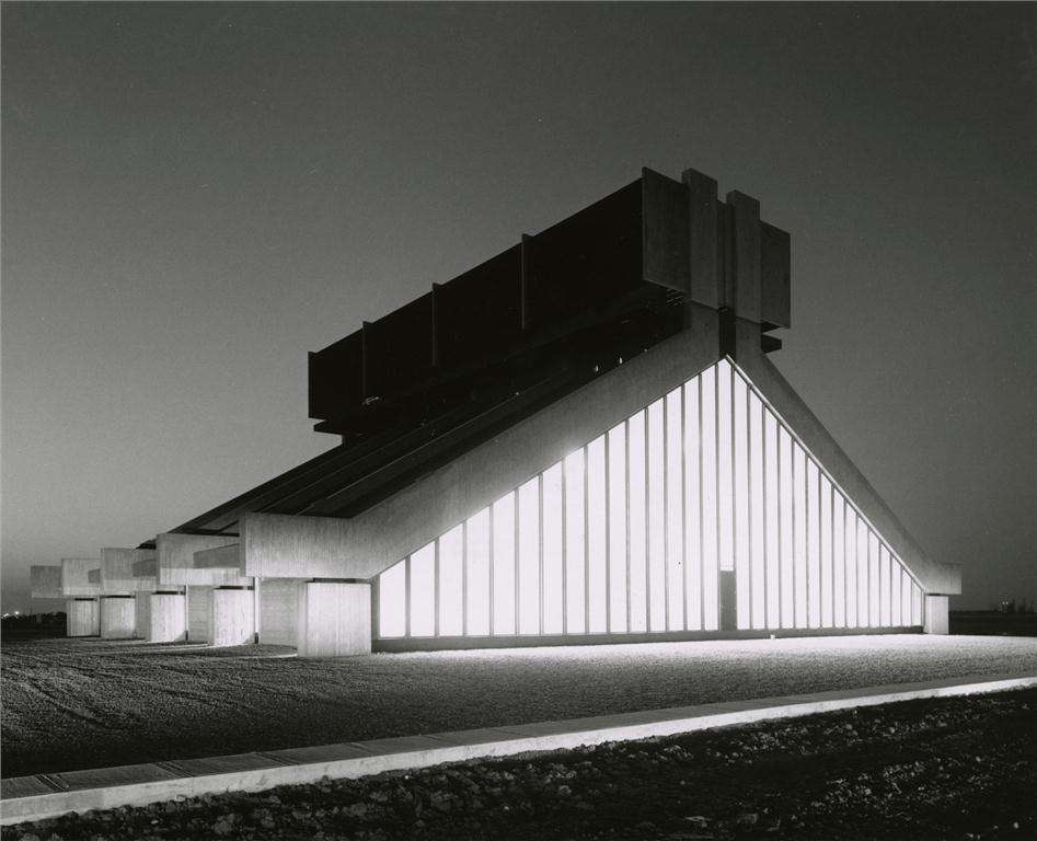 the university of regina's heating and cooling plant by clifford wiens, winner of the prix du XXe sicle award in 2011. photo: university of manitoba archives & special collections - henry kalen fonds.