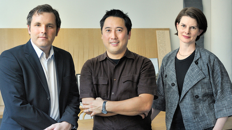 williamson chong, recipients of the 2014 RAIC emerging architectural practice award. from left to right: shane williamson, donald chong, betsy williamson.