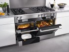 48-inch dual fuel + 6 gas burner + griddle M touch range