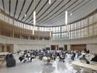 enclosed rotunda at the university of toronto mississauga innovation centre. photo by shai gil.