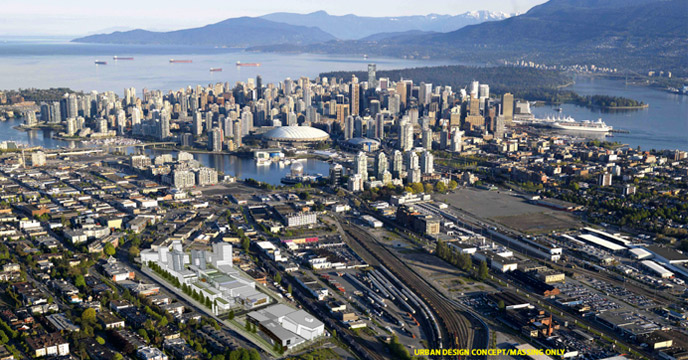 site for new emily carr university building