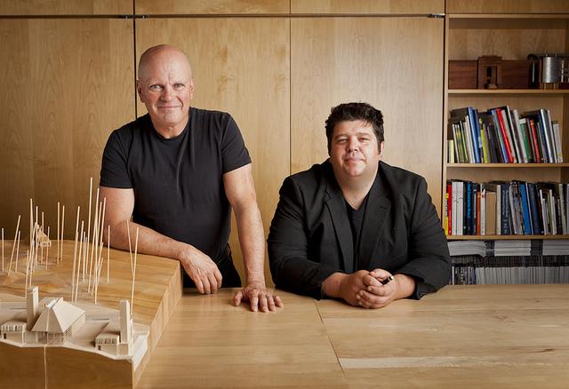 brian mackay-lyons and talbot sweetapple, principals of mackay-lyons sweetapple architects, recipient of the 2014 RAIC architectural firm award