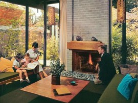 the downs family home in vancouver by architect barry downs. photo 1961.