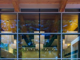 closeup of glazed wall of the nanaimo north branch library