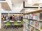 interior of the nanaimo north branch library