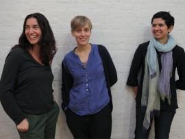 danielle aubert, lana cavar and natasha chandani. photo by charles roussel.