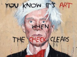 """jim bourke, """"andy warhol with basquiat font"""""""