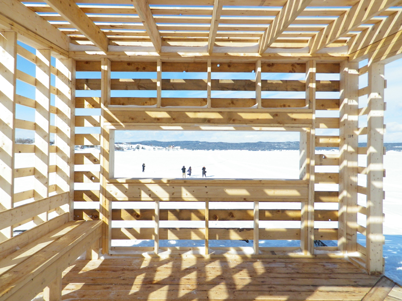 A pavilion in Botwood, Newfoundland is a tangible outcome from last year's Culture of Outports projects. ERA Architects and the Centre for Urban Growth + Renewal - a non-profit organization that the architect co-founded - spearheaded the community build initiative.