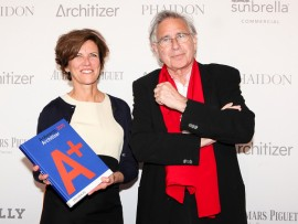 jeanne gang and bernard tschumi at the 2015 architizer A+ awards gala. jenna bascom photography.