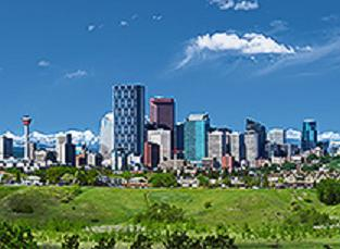 the calgary skyline. photo courtesy of tourism calgary.