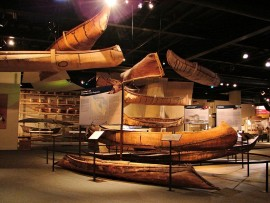 exhibits at the canadian canoe museum