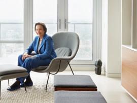 sonja bata in her penthouse apartment designed by dubbeldam architecture + design