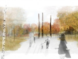 north design office's finalist entry to the memorial to the victims of communism competition