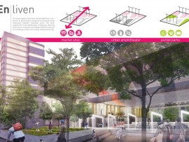 "GBL architects' second-place scheme is called ""entwine"""