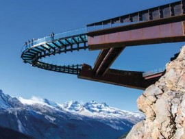 glacier skywalk, winner of the 2015 steel edge award