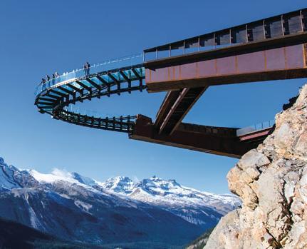 glacier skywalk, winner of the 2015 steel edge award