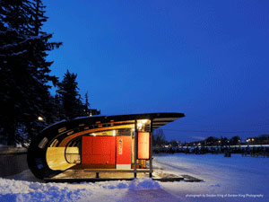 rideau canal skateway chalets by the national capital commission: winner of a 2013 ottawa urban design award